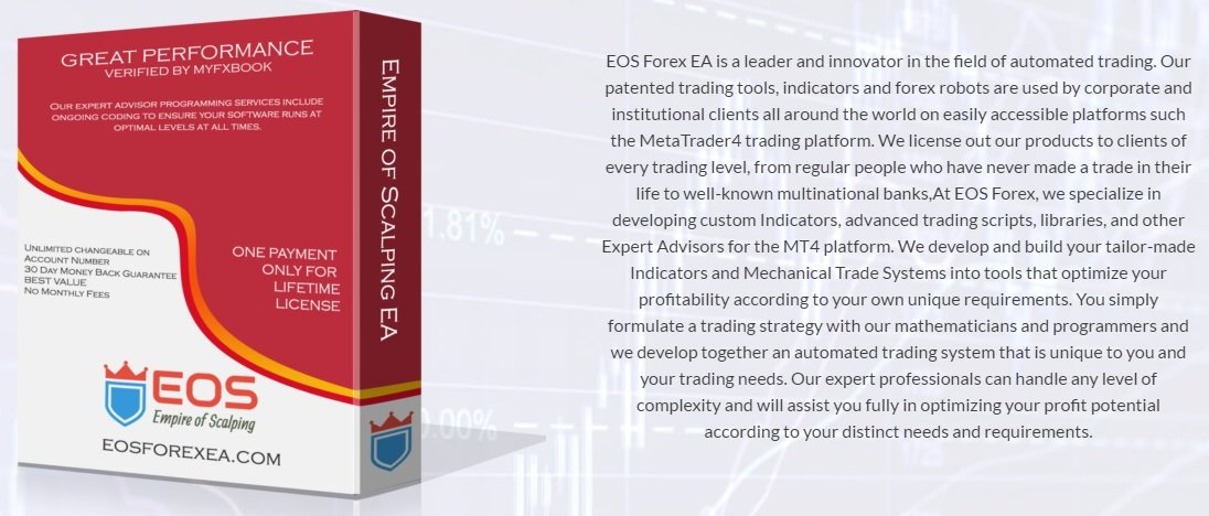 EOS Forex EA Review - EOS Forex EA Is The Best FX Expert Advisor For Metatrader 4 (MT4) And Reliable Forex Trading Robot For Scalping During Night Sessions