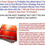 1 min FOREX System - Trade with 1 minute chart forex system